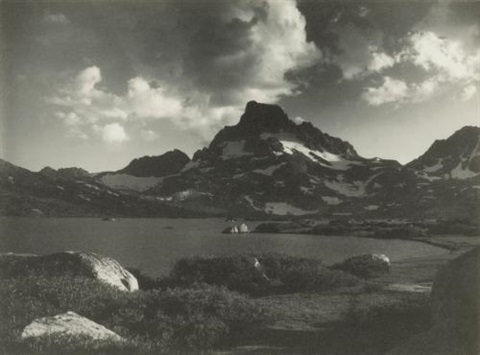 banner peak thousand island lake from parmelian prints of the high sierras by ansel adams