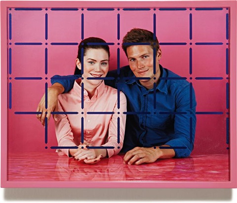 woman man rose navy by elad lassry