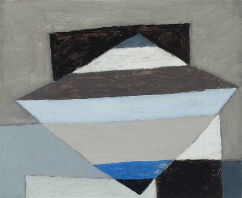 blue and black landscape ii by michael canney