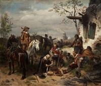 odpoczynek w czasie bitwy by wilhelm camphausen