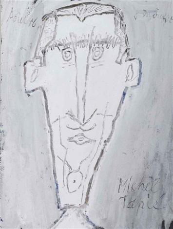 portrait de michel tapié by jean dubuffet
