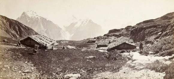 vue panoramique des alpes by a braun a dornach