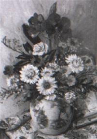 stilleben med sommarblommor i kruka by carl einar (figge) fredriksson