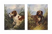 retrieving: duck and pheasant (pair) by george armfield