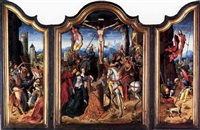 the crucifixion by master of the antwerp adoration