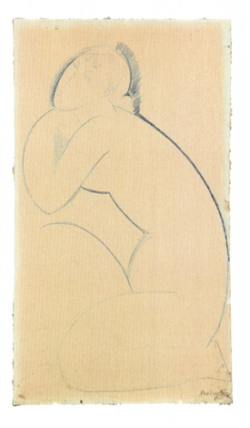 cariatide by amedeo modigliani