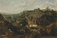 bourg en auvergne by théodore rousseau