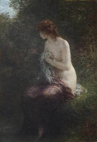 baigneuse dans le sous bois by henri fantin latour