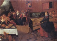 scène de concert by hieronymus francken the elder