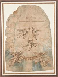 trois anges portant une croix by giovanni alberti