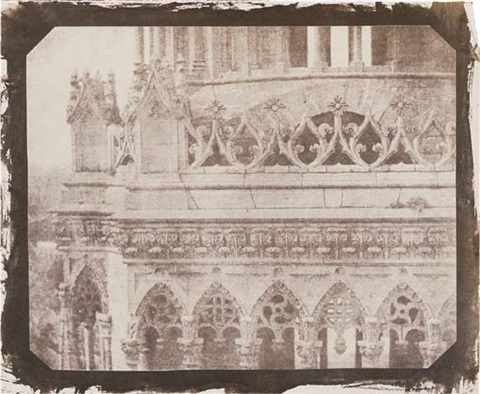one of the towers of orleans cathedral as seen from the opposite tower 21 june 1843 by william henry fox talbot