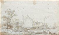 paysage by cornelis van noorde