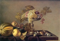 nature morte aux fruits et aux coquillages by cornelis jacobsz. delff