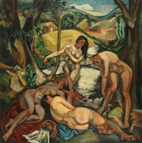 les baigneuses by andré favory