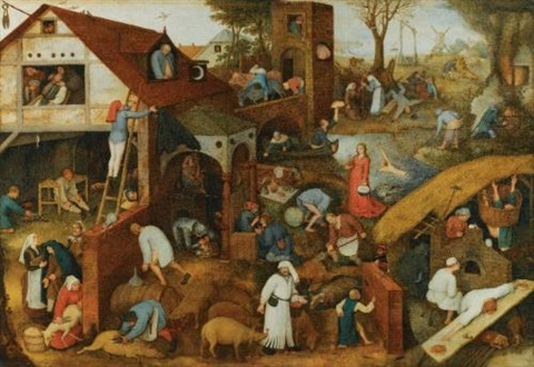 flemish proverbs by pieter brueghel the elder