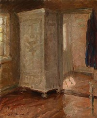 interior with sunlight by julius paulsen