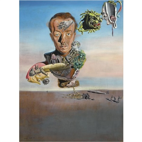 portrait de paul éluard by salvador dalí