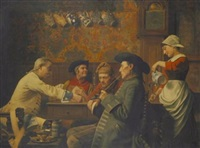 tavern scene by emile godding