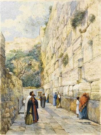 le mur des lamentations jérusalem by gustav bauernfeind