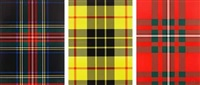 portfolio of three works: tartan sets by sarah charlesworth