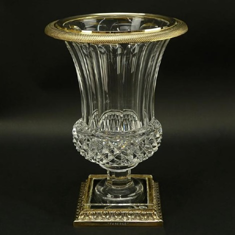 Faberge Crystal Gilt Metal Mounted Urn By Faberg Co On Artnet