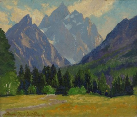majestic peaks (the grand tetons) by charles partridge adams