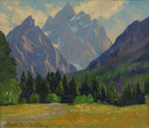 majestic peaks the grand tetons by charles partridge adams