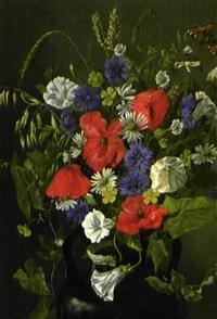 bouquet de fleurs des champs à papillon by emma mulvad