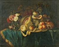 früchte- und blumenstillleben by jan davidsz de heem