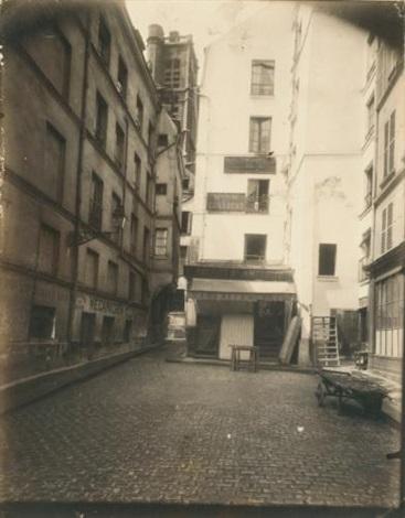 rue grenier de leau by eugène atget