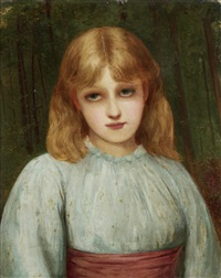 portrait of a young girl by charles sillem lidderdale