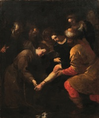 s. antonio da padova e il miracolo del piede by orazio ferraro