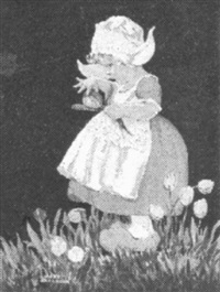 dutch girl with tulips by mary anderson