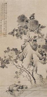 花卉 by jiang tingxi