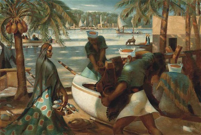 pêcheurs à rashid rosette by mahmoud said