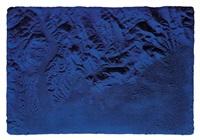 relief planétaire bleu, (rp 17) by yves klein