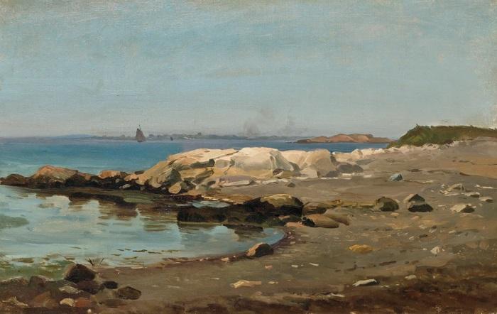 along a rocky coast by mauritz frederick hendrick de haas