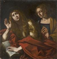 marie-madeleine pénitente avec sa soeur marthe by antiveduto grammatica
