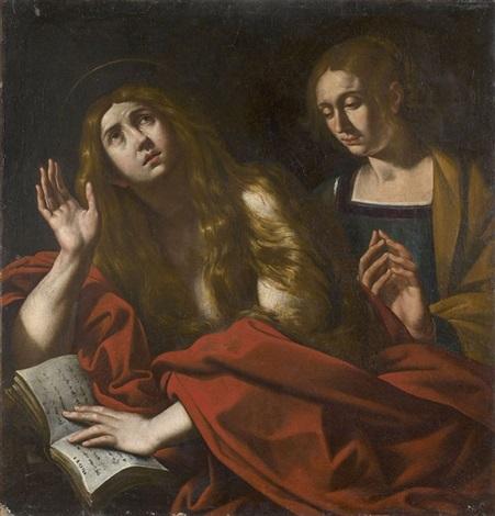 marie madeleine pénitente avec sa soeur marthe by antiveduto grammatica