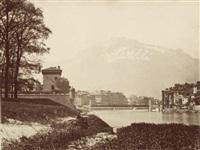 grenoble: la citadelle, le pont suspendu et le quartier saint- laurent by victor muzet