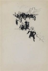brittany (+ carriage on a road, lrgr; 2 works) by robert henri