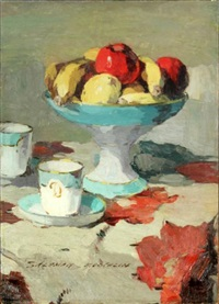 nature morte aux fruits by charles salomon koechlin