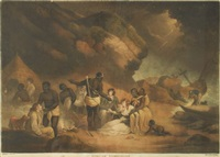 african hospitality (after george morland) by john raphael smith