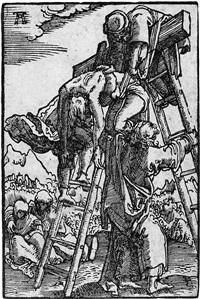die kreuzabnahme (from sündenfall und erlösung des menschengeschlechts) by albrecht altdorfer