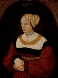 portrait of clara burckhart, aged 30 by conrad (von creuznach) faber