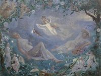 scene from a midsummer night's dream by john simmons