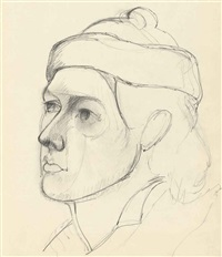 portrait of mougouch by arshile gorky