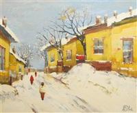 winter street by nicolae blei