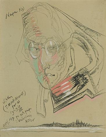 portrait of teodor birula bialynicki 25 viii 192 by stanislaw ignacy witkiewicz