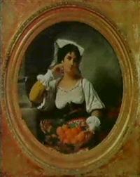 appelsinsaelgerske                     (diam. 128) by charles antoine joseph loyeux